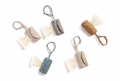 Eco-leather poop bag holder NINA - Beige