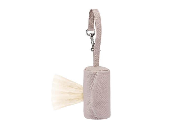 Eco-leather poop bag holder NINA - Dusty rose