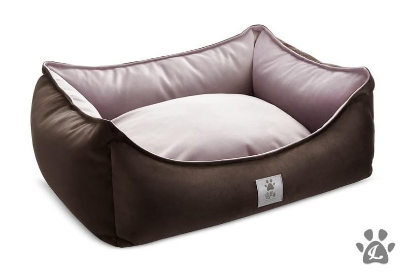 dog bed LITTLE NAP pink & brown