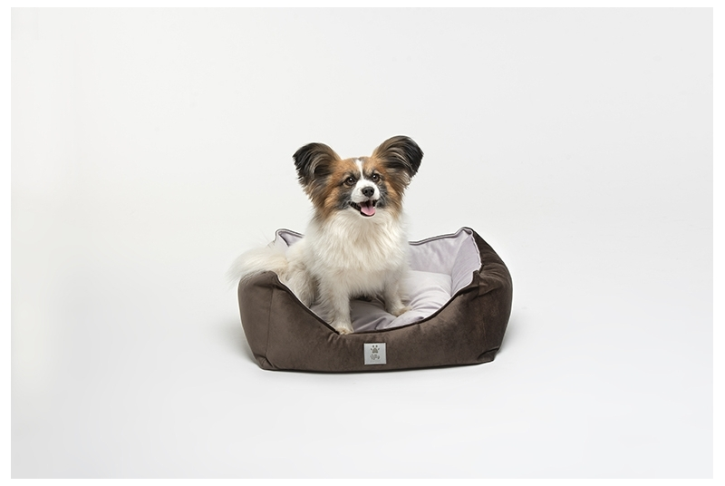 dog bed LITTLE NAP pink & brown