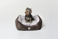 Legowisko dla małego psa LITTLE NAP pink & brown