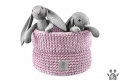 Kosz na zabawki PLAYTIME dusty pink *recycled cotton*
