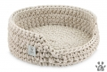 cat basket COTTON sand beige