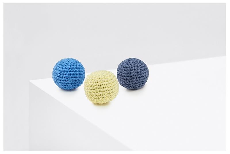 Organiczne piłeczki PING PONG lemon&blue