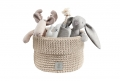 dog toys basket PLAYTIME sand beige *recycled cotton*