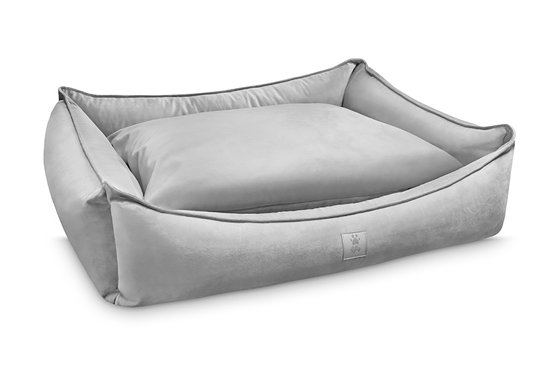 dog bed ROYAL NAP silver grey